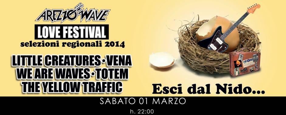 AREZZO WAVE LOVE FESTIVAL: VENA selezionati per le semifinali regionali Piemonte!